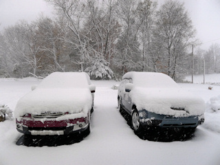 Nor'easter dumping record amounts of snow, October 29.