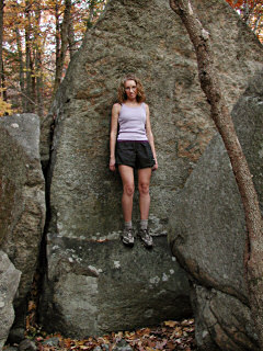 Zhanna on boulder