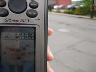 GPS coordinates taken at the spot.