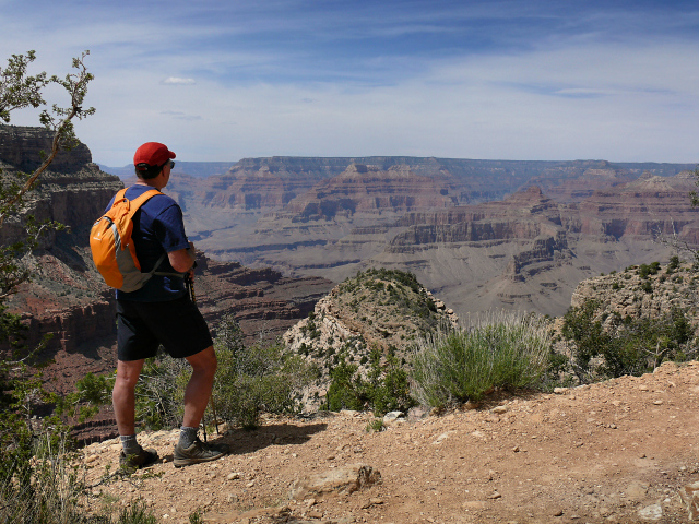 Rich takes in the enormity of the canyon