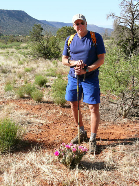 Rich looks very relaxed and at home here in the desert.