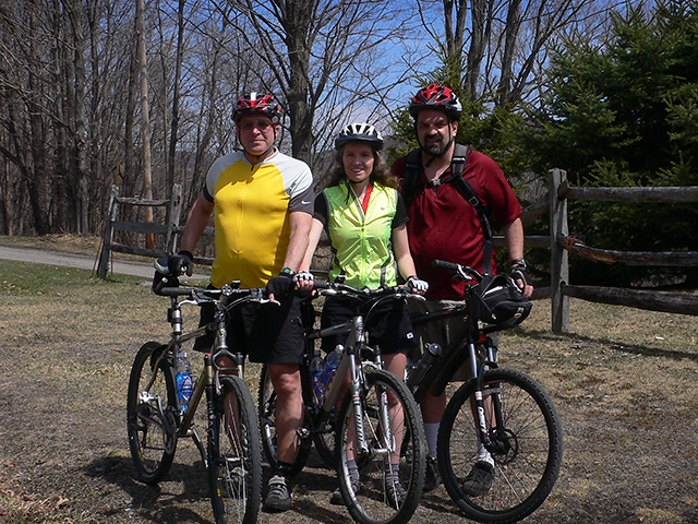 Rich, Zhanna, and John take on the D&H Trail near Forest City. Our butts will never be the same!