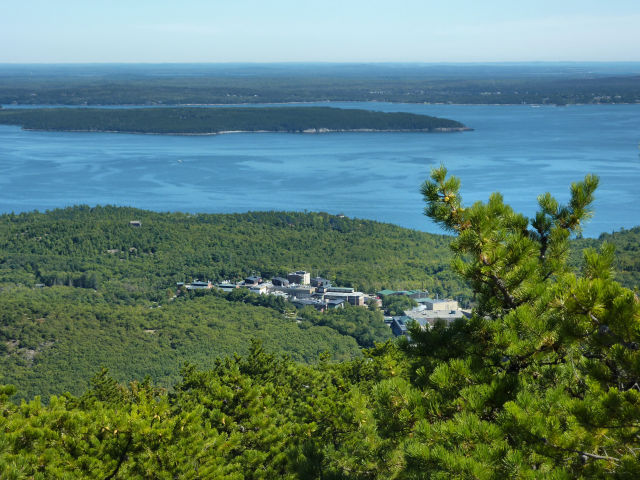 A view over the Jackson Laboratory and out toward the bay