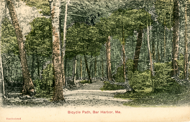 Dorr's Bicycle Path in a 1909 postcard
