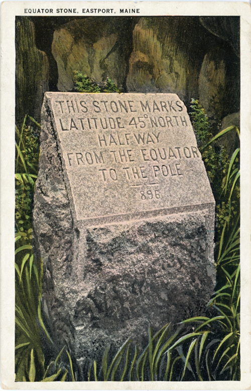 "The ""Equator Stone"" postcard"