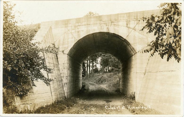 DL&W Railroad culvert, Kingsley, Pa.