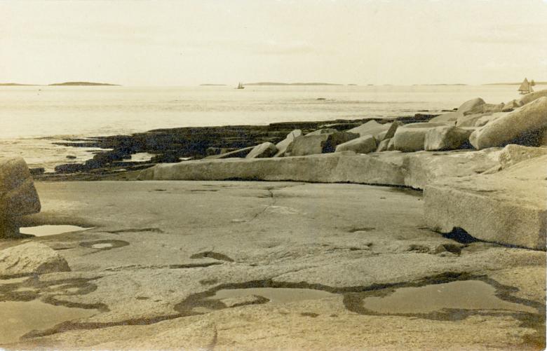 """Baker Island """"Dance Floor"""" in an early postcard"""