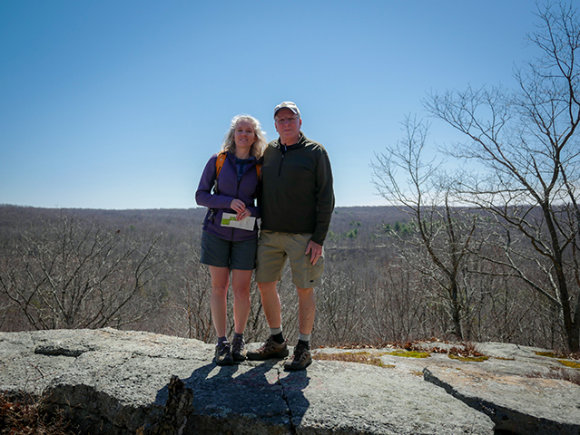Zhanna and Rich at the overlook