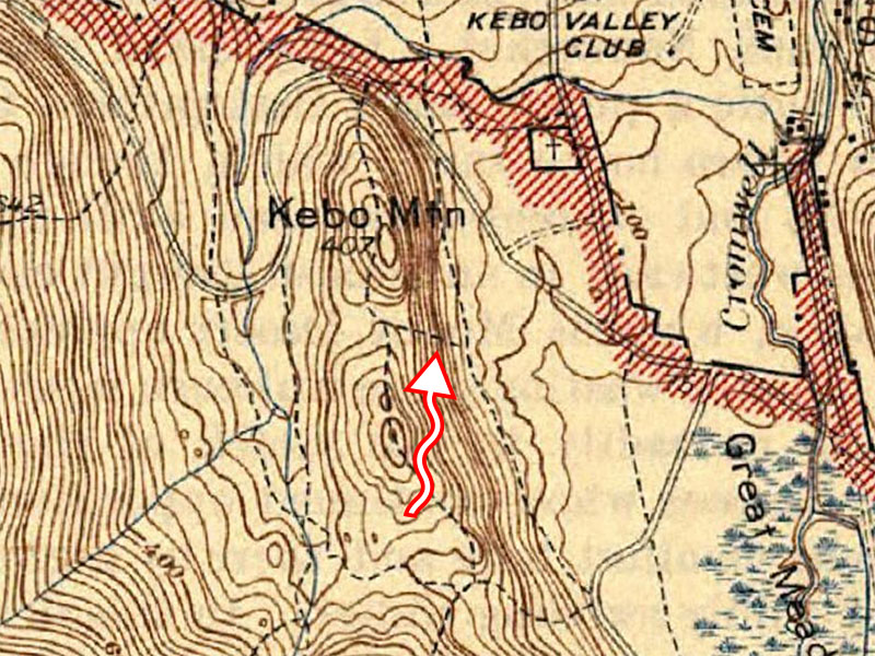 Steps possibly shown on 1942 topo map